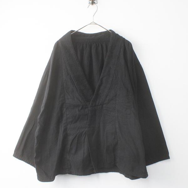 KAPITAL キャピタル ガーゼネル KENKAシャツ S/ブラック トップス プルオーバー 無地【2400011565938】