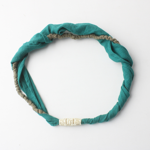 KAPITAL キャピタル 二重 ヘアバンド/グリーン 小物 アクセサリー ゴム【2400011565983】