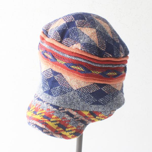 CA4LA カシラ ジャガード ニットキャップ/マルチ 帽子 ツバ付き 小物 総柄 アクセサリー【2400011566089】