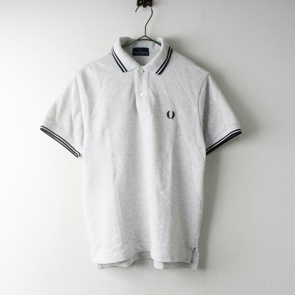 メンズ FRED PERRY フレッドペリー 鹿の子 ポロシャツ S/グレー カノコ トップス MENS 半袖【2400011566225】