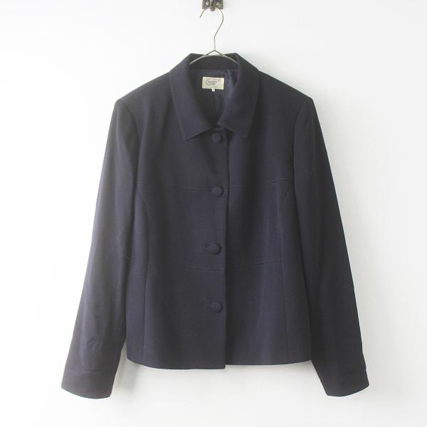 大きいサイズ Aylesbury アリスバーリー ウール ジャケット 15/ネイビー アウター 上着 羽織り ハオリ【2400011567697】
