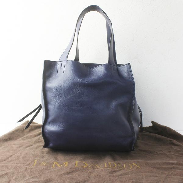 J&M Davidson ジェイアンドエムデヴィッドソン BELLE S ベル レザー トートバッグ/鞄 BAG かばん ネイビー【2400011568922】