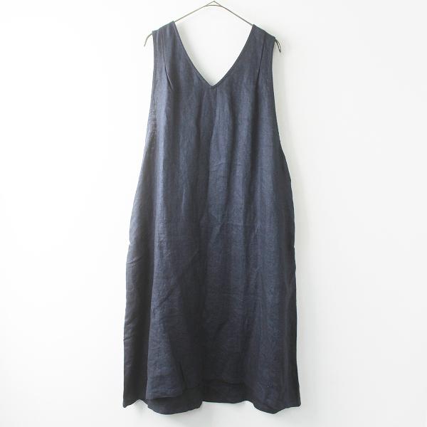 新品 blue willow ブルーウィロー 019SP15036 リネンツイルノースリーブワンピース F/インディゴ ジャンパースカート【2400011570727】