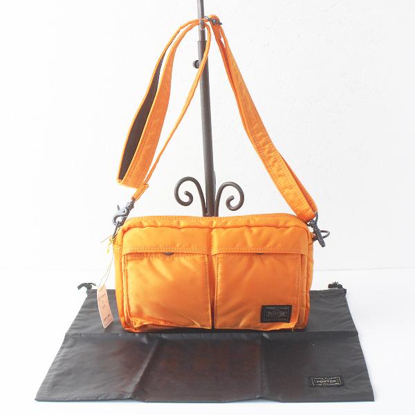 美品 PORTER ポーター 80周年記念 TANKER SHOULDER BAG ショルダー バッグ/鞄 オレンジ かばん カバン【2400011571151】