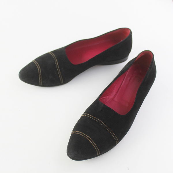 HENRY BEGUELIN エンリーベグリン スエード パンプス 36 1/2/靴 ブラック シューズ くつ クツ【2400011577610】