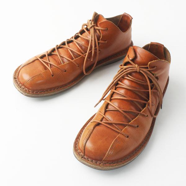 trippen トリッペン TYLER WAX レザー レース アップシューズ/キャメル 靴 くつ【2400011581822】