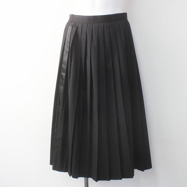 2016 秋冬 Lois CRAYON ロイスクレヨン サイドライン プリーツ スカート M/28年製 ブラック【2400011582003】
