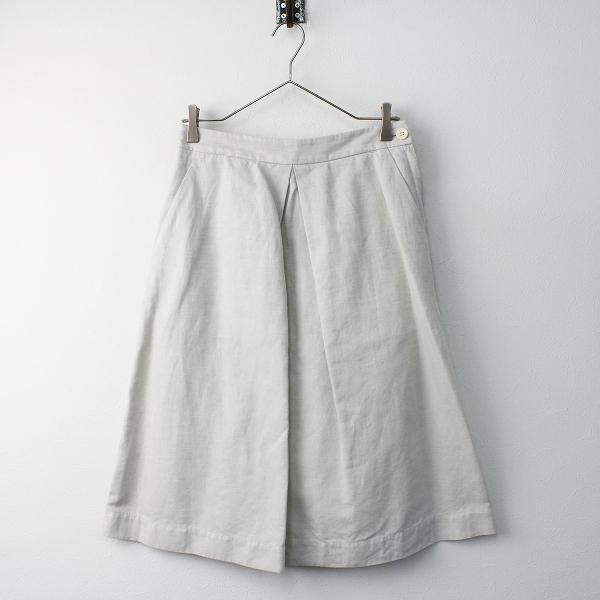 MARGARET HOWELL マーガレットハウエル コットン タック フレア スカート 2/ホワイト ボトムス ジップフライ【2400011582386】