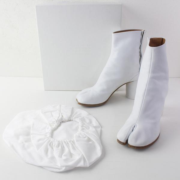 MAISON MARGIELA メゾンマルジェラ 2019SS S58WU0260 Light brueshed effect Tabi boots 足袋 ブーツ 39/ホワイト【2400011582720】