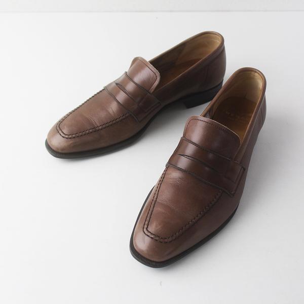 極美品 REGAL リーガル レザーコインローファー スリッポン メンズ 25/ブラウン ビジネス シューズ 革靴【2400011583703】