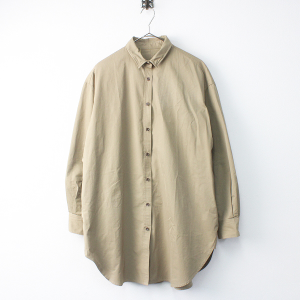 Deuxieme Classe ドゥーズィエムクラス Back Pocket shirts ワンピース/カーキベージュ シャツワンピース【2400011583871】-.