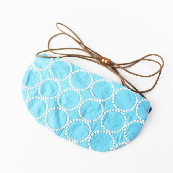 mina perhonen ミナペルホネン tambourine coupe bag ショルダーバッグ/ライトブルー 斜めがけ【2400011594792】