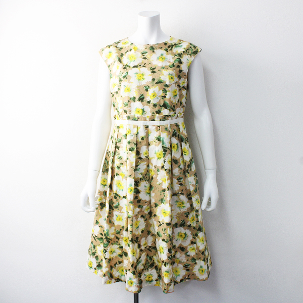 美品 定価2.7万 Lois CRAYON ロイスクレヨン スイサイ フラワー ワンピース M/ドレス フレア ロング【2400011595614】