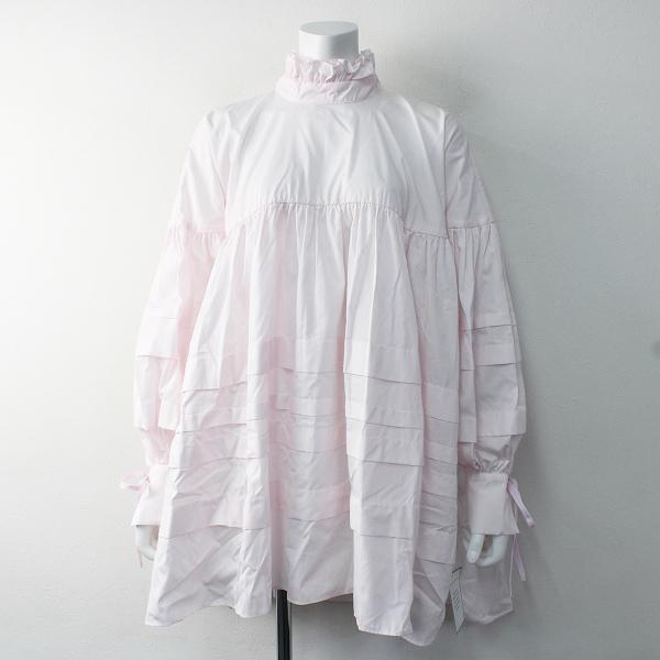 未使用品 CECILIE BAHNSEN セシリーバンセン Alberte Shirt Dress フリル シャツ ドレス 6UK/ピンク ワンピース【2400011601193】