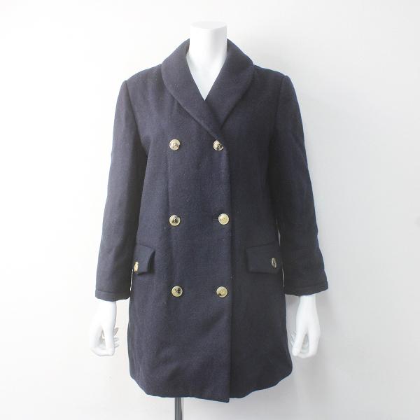 A.P.C. アーペーセー ウール ショールカラー ダブル コート M/ネイビー アウター 上着 長袖【2400011601629】