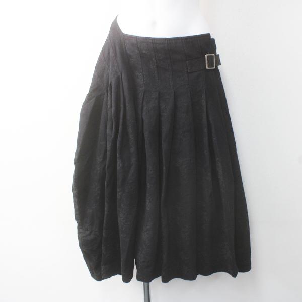 tricot COMME des GARCONS トリココムデギャルソン AD2016 染色加工 フラワー刺繍 変形 ラップ スカート M/ボトムス【2400011603401】