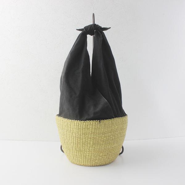 MUUN ムーニュ basket one handle ワン ハンドル バスケット かごバッグ/ブラック ナチュラル かばん 鞄 BAG -.【2400011606150】
