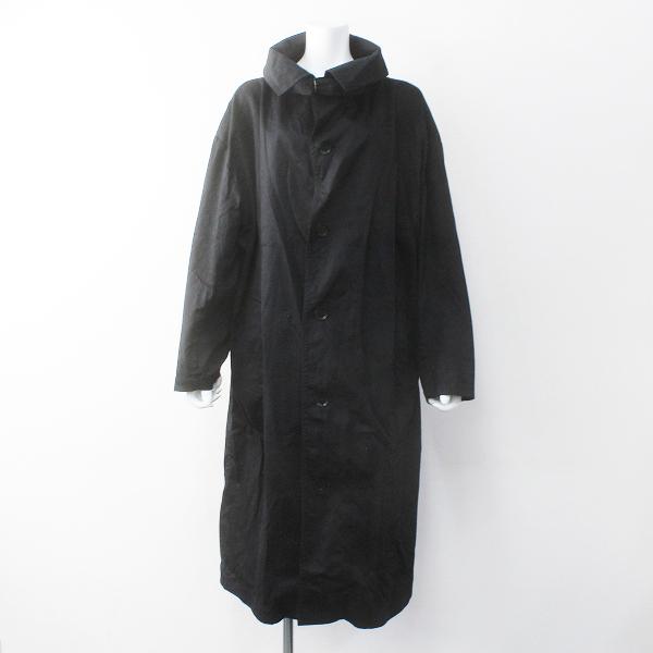 Y's Yohji Yamamoto ワイズ ヨウジヤマモト BORN PRODUCT チンストラップ コットン ロング ステンカラー コート 1【2400011608093】