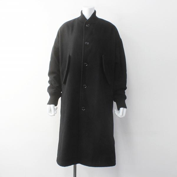 Y's Yohji Yamamoto ワイズ ヨウジヤマモト ウールメルトン ロング ブルゾン コート/ブラック アウター 上着【2400011608109】