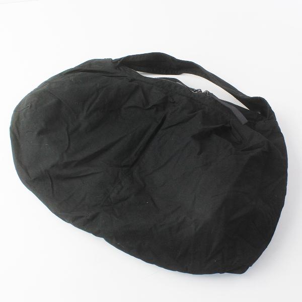 Y's Yohji Yamamoto ワイズ ヨウジヤマモト 染色加工 コットン ワンハンドル バッグ/ブラック 鞄 BAG【2400011608154】