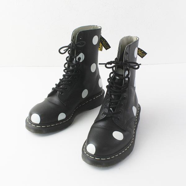 Y's Yohji Yamamoto ワイズ ヨウジヤマモト 10 EYE BOOT_DOTS 10ホール バックジップ ブーツ UK6/ブラック【2400011608192】