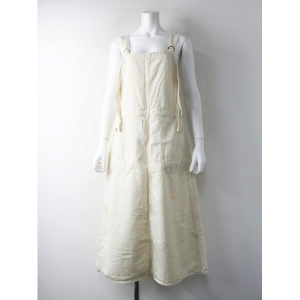 D.M.G Brocante ドミンゴブロカント コットン ランダムヘリンボン サロペット スカート 2/アイボリー 【2400011609670】