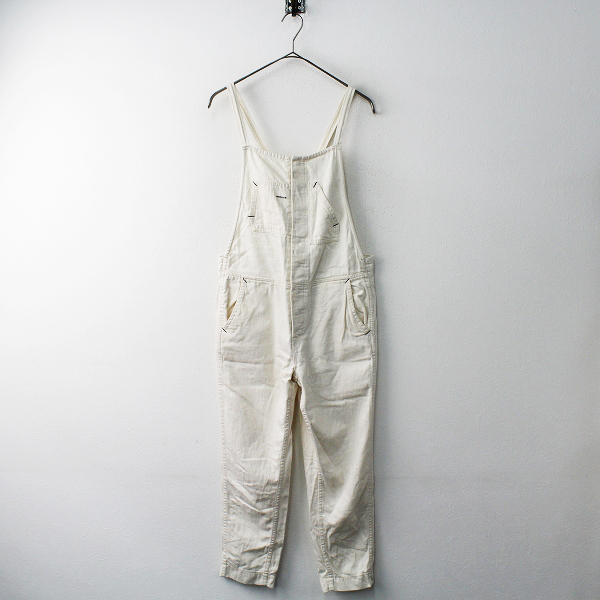 ANTGAUGE アントゲージ コットン サロペット パンツ M/オフホワイト 無地 ロング【2400011619167】