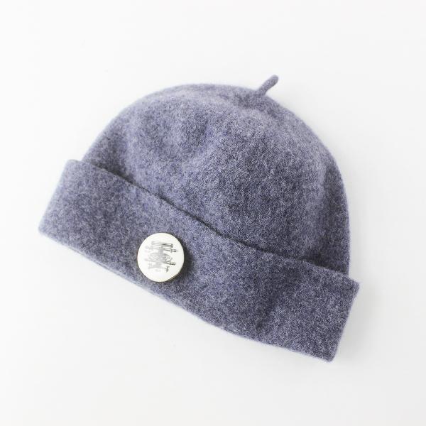 nest Robe ネストローブ バッジ付き ウール フェルト キャップ/ブルー グレー 帽子 アクセサリー【2400011621399】