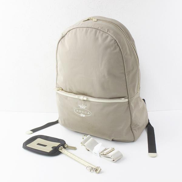 TOCCA トッカ ナイロン リュックサック/ベージュ 鞄 かばん BAG【2400011622709】