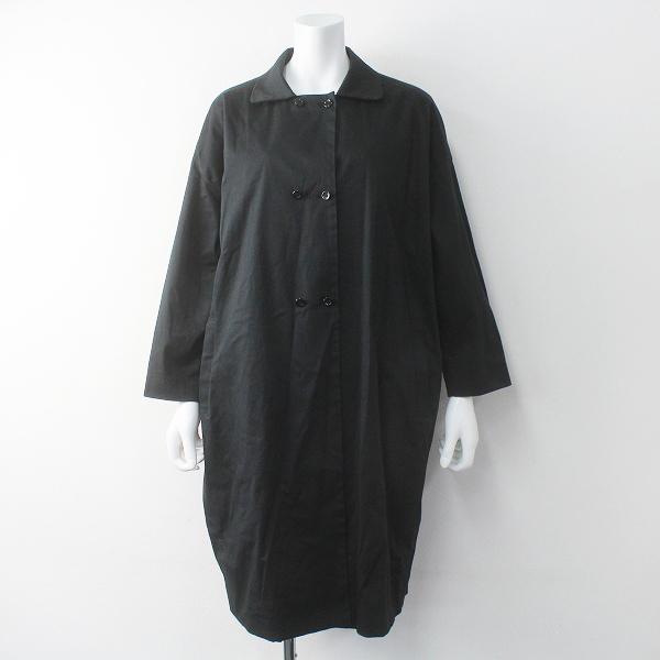 TANDEY タンディ オローネ portom1807 6つボタンのバルーンコート/ブラック アウター 上着 羽織り ダブル【2400011626226】