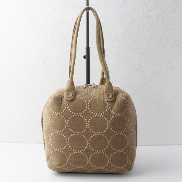 mina perhonen ミナペルホネン tambourine 刺繍 matka bag /ベージュ タンバリン マトカバッグ【2400011629036】