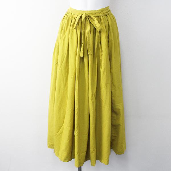 未使用 IDEE POOL イデー プール いろいろの服 ギャザー エプロン スカート / イエロー ラップ 巻きスカート フレア 【2400011635105】