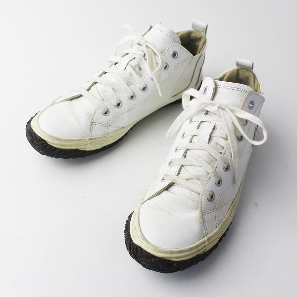 SPINGLE MOVE スピングルムーブ × クレッシェント サイドゴア スニーカー/ホワイト 靴 くつ クツ【2400011638083】