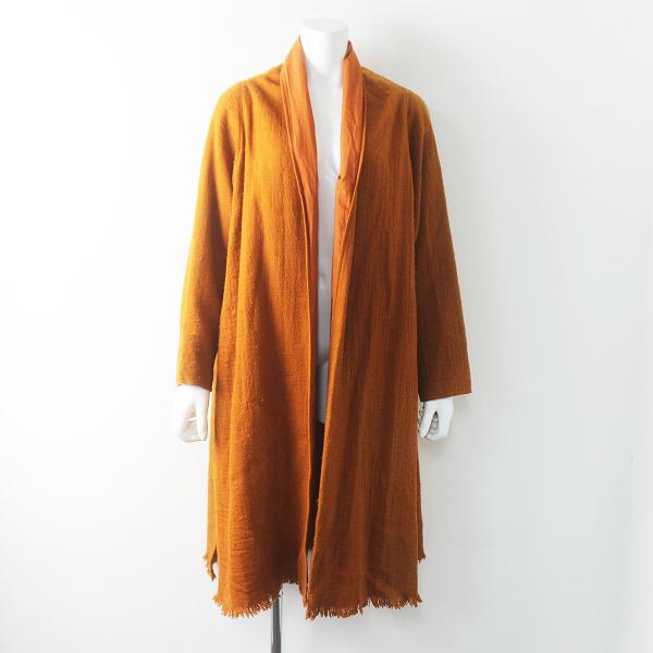 Jurgen Lehl babaghuri ヨーガンレール ババグーリ ウール ローブ コート M / オレンジ 羽織り【2400011640109】