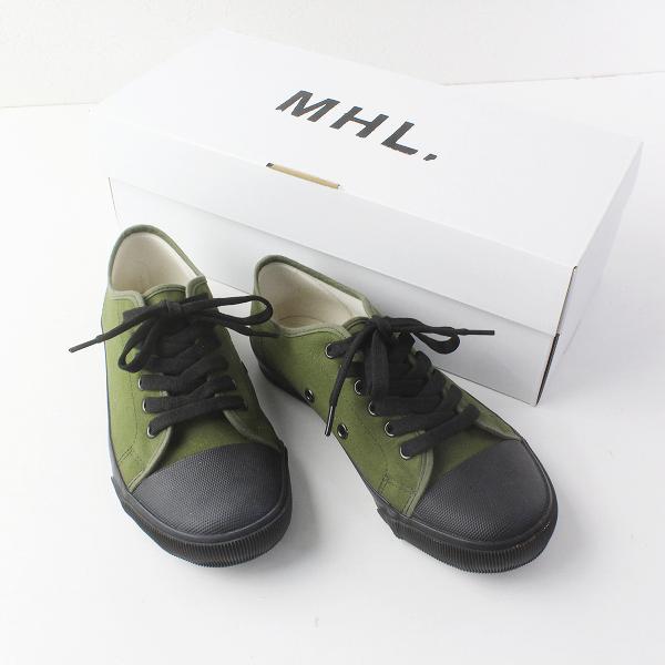 2019 MHL マーガレットハウエル 595-9170500 ARMY SHOES アーミーシューズ 23cm/カーキ スニーカー【2400011640796】