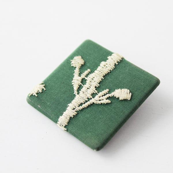 mina perhonen ミナペルホネン サンキューベリーバッジ /グリーン 刺繍ブローチ 小物【2400011645081】