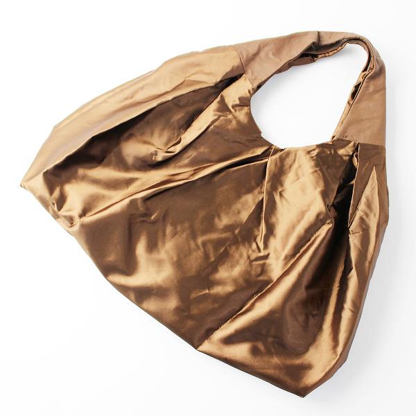 SHIPS シップス レザー×サテン トートバッグ/ブラウン カバン かばん 鞄 BAG【2400011645340】
