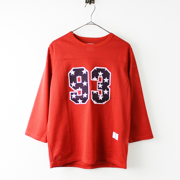 未使用 BEDWIN & THE HEARTBREAKERS JACKSON メッシュフットボールTシャツ 15SB2526 1/レッド【2400011649478】