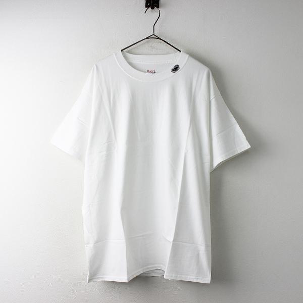 未使用 メンズ HORDEN × HANES ホーデン ヘインズ Black Horse Short Sleeve Tシャツ 30711240 L/ホワイト トップス【2400011649928】