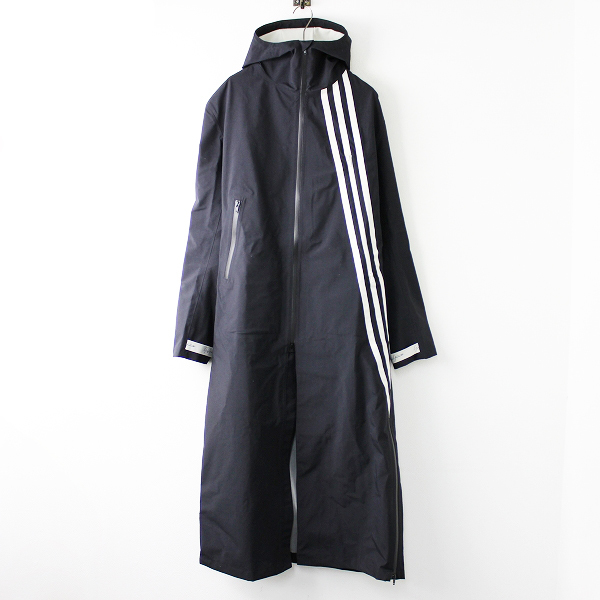 美品 定8.8万 2019AW Y-3 ワイスリー ヨウジヤマモト FJ0426 GORE-TEX Hooded Coat M/ブラック メンズ フーデッドコート【2400011651242】