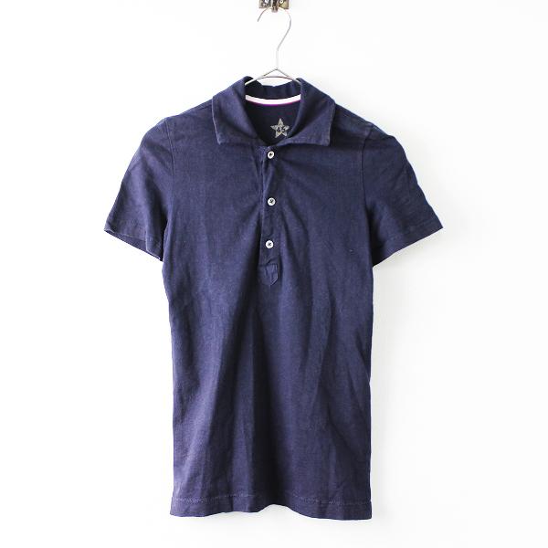 45rpm フォーティーファイブアールピーエム 星 コットン ポロシャツ0/インディゴネイビー トップス 半袖【2400011651969】