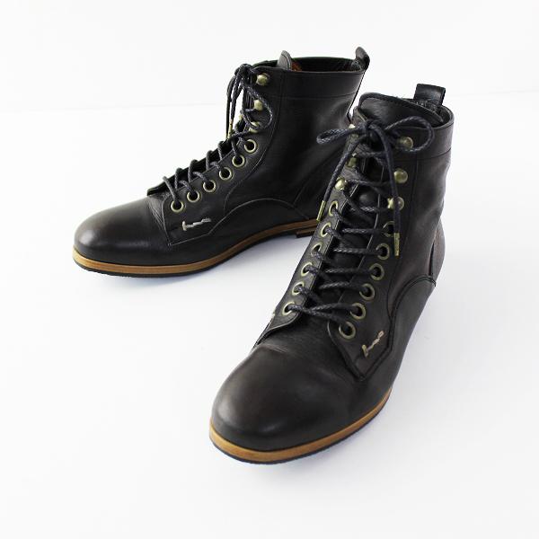 MUKAVA ムカヴァ レースアップ レザー ショートブーツ 24/ダークブラウン 靴 シューズ【2400011652065】