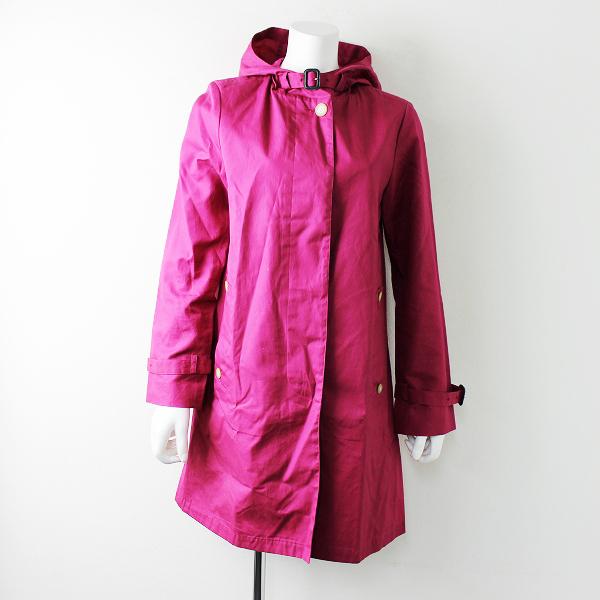 Traditional Weatherwear トラディショナルウェザーウェア DELVINE デルヴィン Aライン フーデッドコート 36/ピンク【2400011654045】