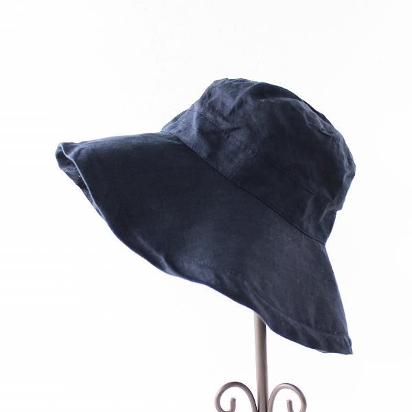 定番 人気 fog linen work フォグリネンワーク ロージュ リネンハット/ダークネイビー ツバ広 麻 帽子 【2400011657312】