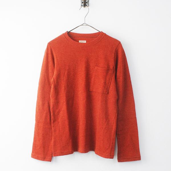 2017AW KAPITAL キャピタル ラムウール天竺 クルーロンTシャツ 1 / オレンジ系 ニット セーター【2400011658456】