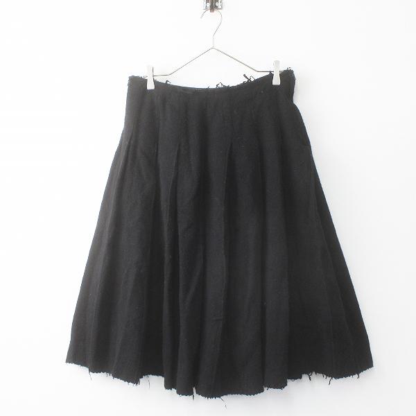 COMME des GARCONS コムデギャルソン AD2005 ウールプリーツスカート Free/ブラック 黒 ジップフライ【2400011659057】