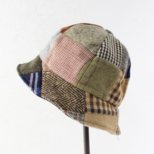 Hanna Hats ハンナハッツ アイルランド製 ウール パッチワーク ハット M/チェック ツイード 帽子【2400011659880】