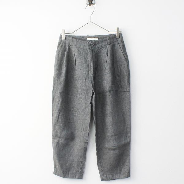 2018SS evam eva エヴァムエヴァ E181T164 easy wrap pants リネン イージーラップパンツ1/グレー ナチュラル【2400011661586】