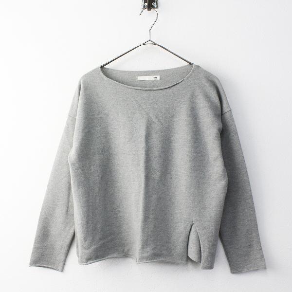 evam eva エヴァムエヴァ light wool PO ライトウール プルオーバー M/グレー セーター 裾スリット【2400011661630】