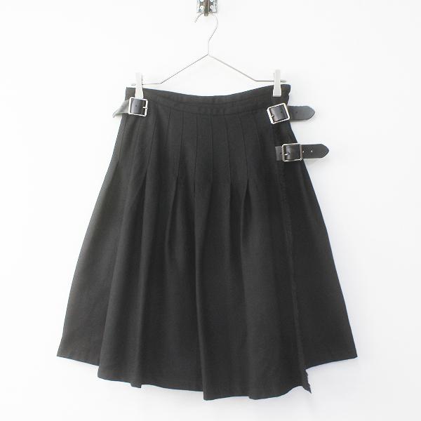 新品 O'NEIL OF DUBLIN オニールオブダブリン ウール キルトスカートS/ブラック ラップ【2400011662422】
